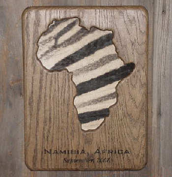 Africa Touch 'n Trophy Plaque