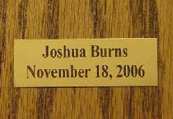 Metal Placard For Plaques.